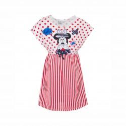 Рокля Minnie Mouse с къс ръкав