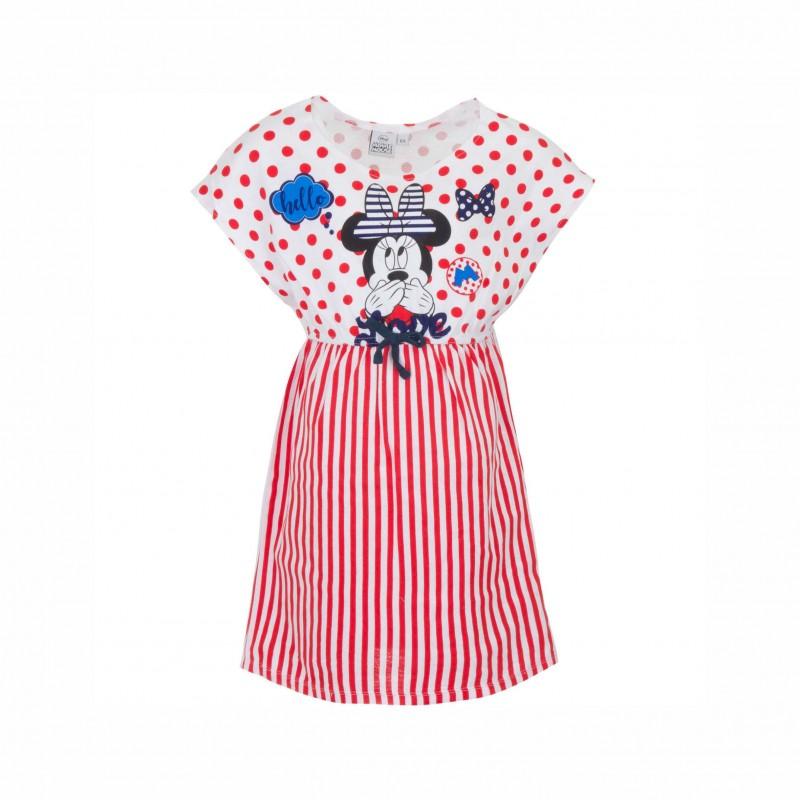 Детска рокляMinnie Mouse (Мини Маус) с къс ръкав за момичета. - SE1157 red - view 1