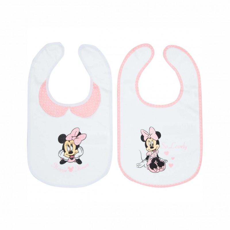 Бебешки комплект 2бр. лигавници Minnie Mouse (Мини Маус) за момичета. - ER0370 - view 1