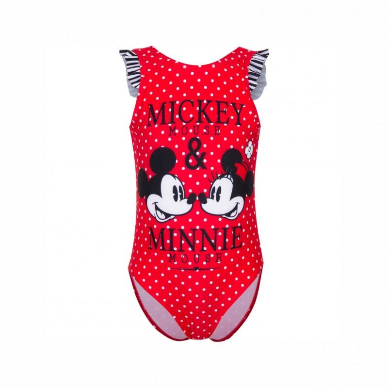 Детски цял бански Minnie Mouse (Мини Маус) за момичета. - ET1744 red - view 1