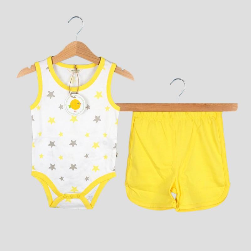 Бебешки комплект боди и къси панталони Organic Kid за момчета. - 10191-008 - view 1
