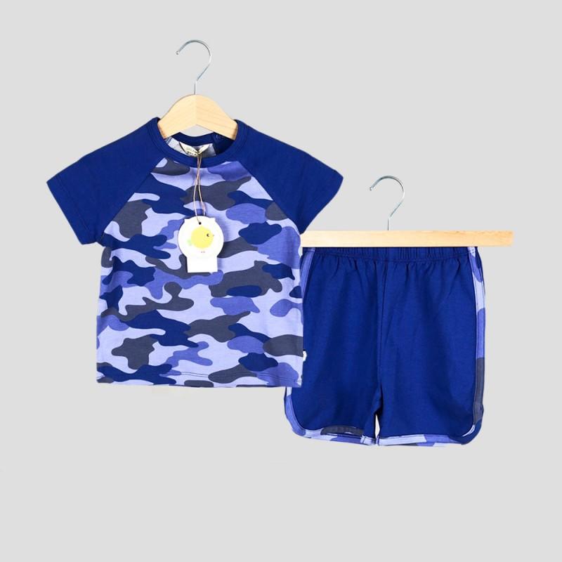 Детски комплект тениска къс ръкав и къси панталони Organic Kid за момчета. - 10271-003 - view 1