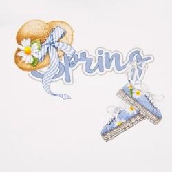 Тениска с къс ръкав и принт за бебе момиче - 1059-073 - view 3