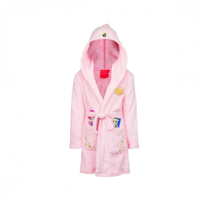 Детски халат за баня Shimmer & Shine (Искрица и Сияйница) за момичета. - RH2224 pink - view 1
