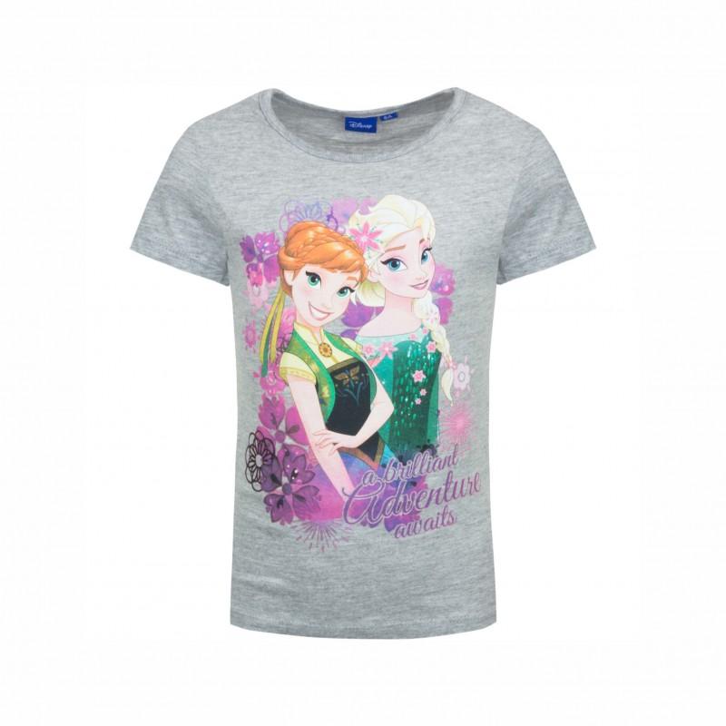 Детска тенискаFrozen (Замръзналото кралство) с къс ръкав за момичета. - ER1118 grey-104 - view 1