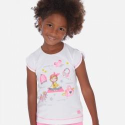 Тениска без ръкав с рисунки за момиче - 3016-015 - view 1