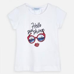 Тениска с къс ръкав и рисунка очила за момиче - 3017-037 - view 3