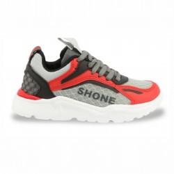 Спортни обувки Shone - 903-001_RED-GREY - view 1