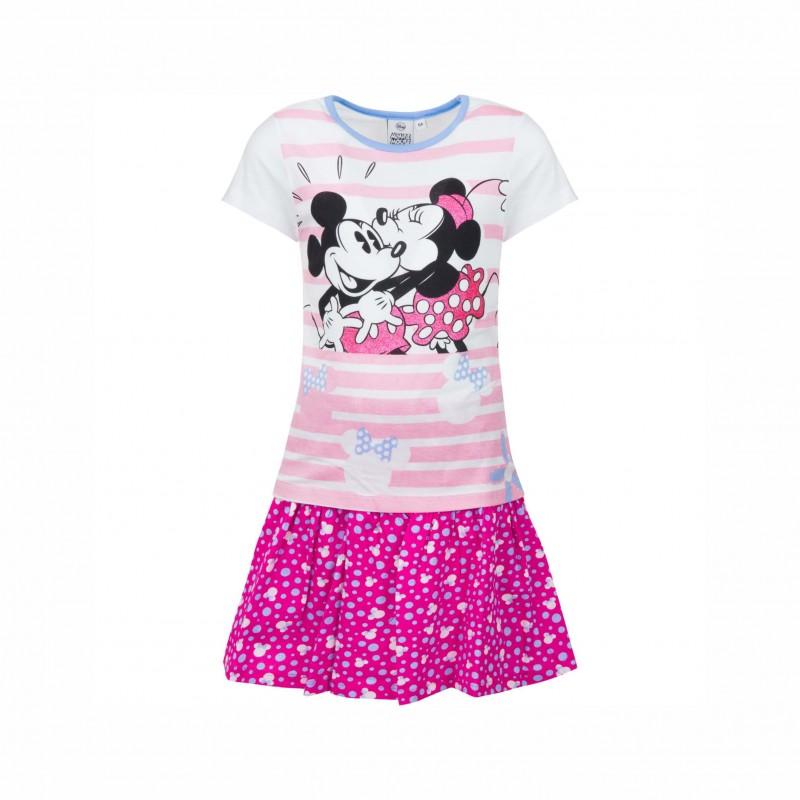 Детски комплектMinnie Mouse (Мини Маус) с тениска къс ръкав и пола за момичета. - SE1433 pink-98 - view 1