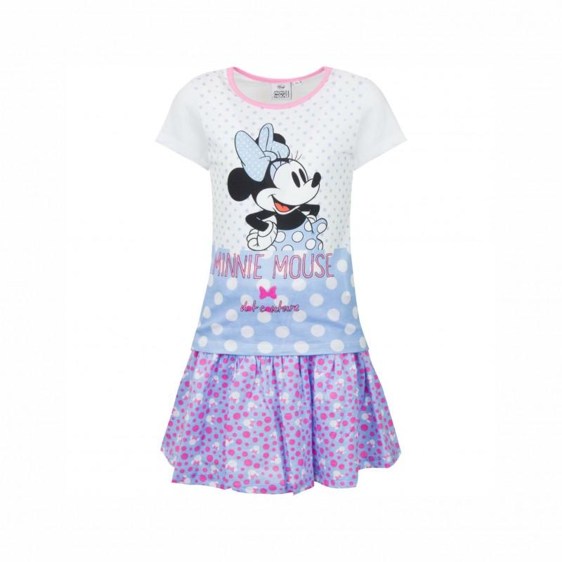 Детски комплектMinnie Mouse (Мини Маус) с тениска къс ръкав и пола за момичета. - SE1433 blue-98 - view 1