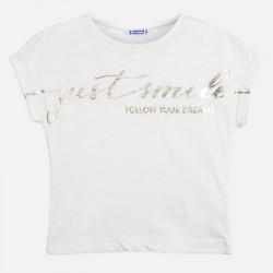 Ламинирана тениска с къс ръкав за момиче - 6010-003 - view 4
