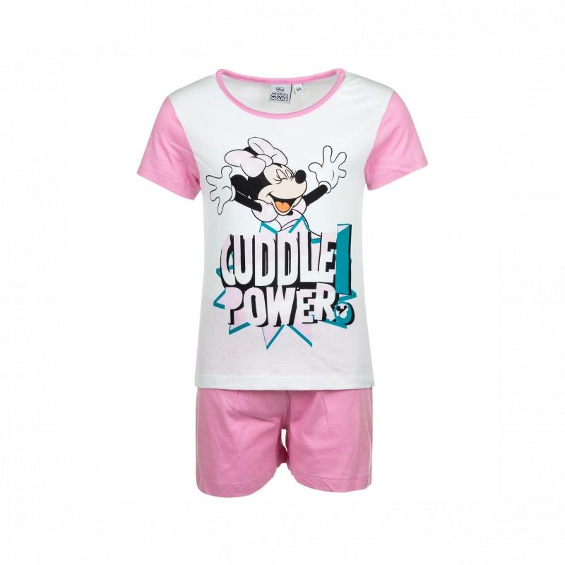 Детска пижамаMinnie Mouse (Мини Маус)скъс ръкав и къси панталони за момичета. - ER2093 white-128 - view 1