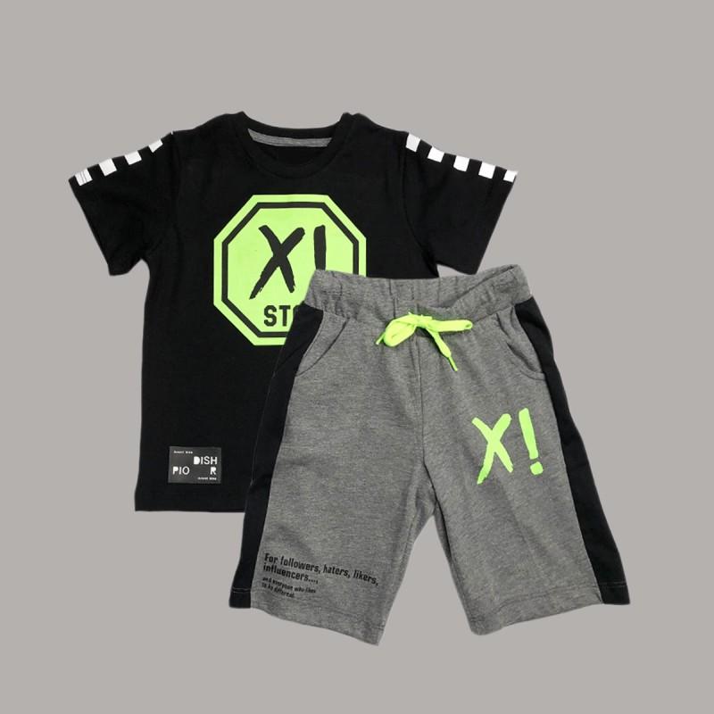 Детски комплект Keiki с тениска къс ръкав и къси панталони за момчета. - 51491-047 - view 1