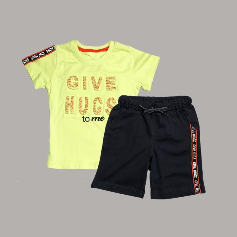 Детски комплект Keiki с тениска къс ръкав и къси панталони за момчета. - 51593-024-110 - view 1