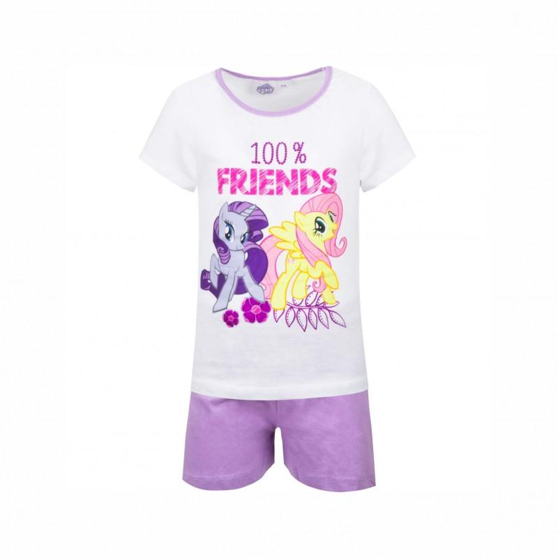 Детска пижамаMy Little Pony (Малкото Пони)скъс ръкав и къси панталони за момичета. - SE2089 white-98 - view 1