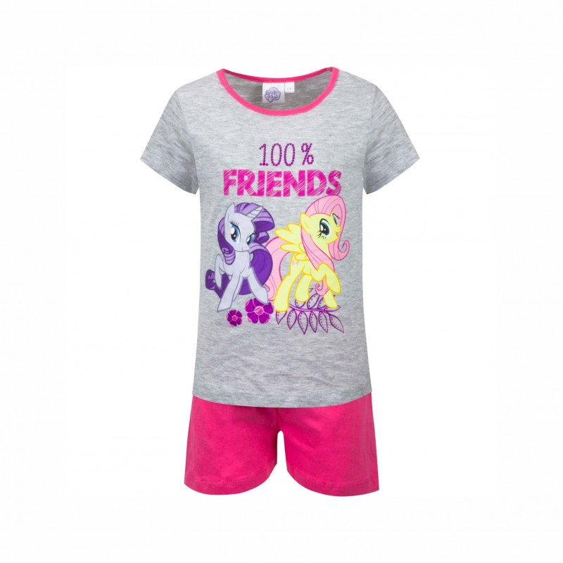 Детска пижамаMy Little Pony (Малкото Пони)скъс ръкав и къси панталони за момичета. - SE2089 grey-98 - view 1