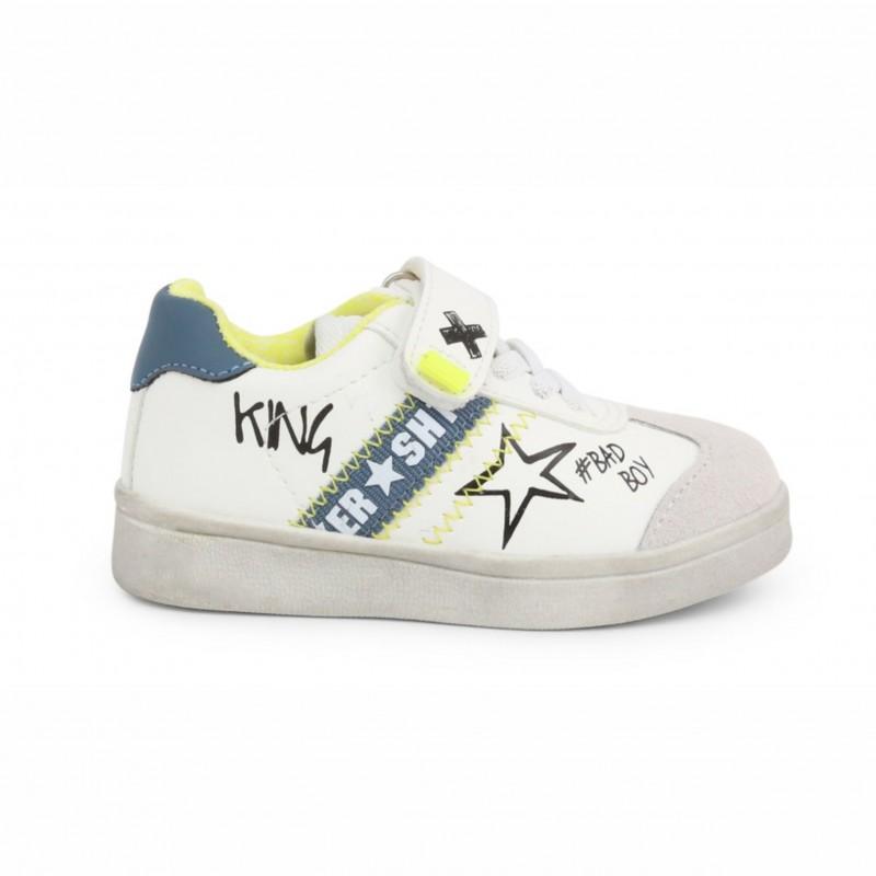 Детски спортни обувки Shone за момчета. - 208-104 white blue - view 1