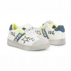 Детски спортни обувки Shone за момчета. - 208-104 white blue - view 3