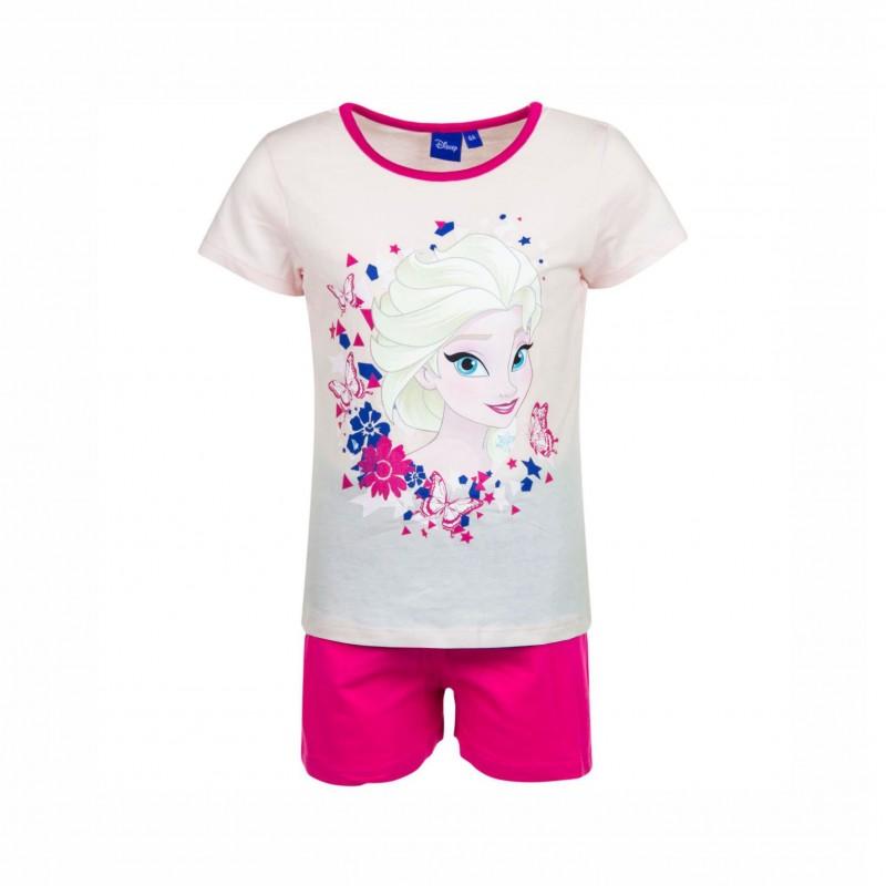 Детска пижамаFrozen (Замръзналото кралство)скъс ръкав и къси панталони за момичета. - ER2088 pink-110 - view 1