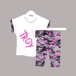 Детски комплект Keiki с тениска къс ръкав икъс клин за момичета. - 53649-004 - view 1