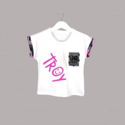 Детски комплект Keiki с тениска къс ръкав икъс клин за момичета. - 53649-004 - view 2