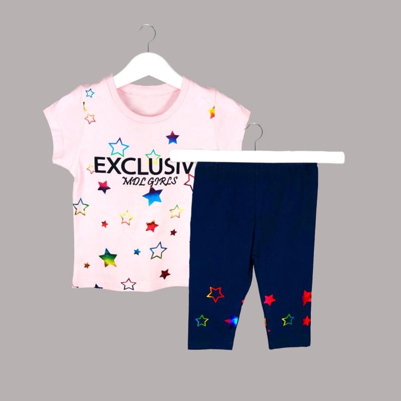 Детски комплект Keiki с тениска къс ръкав икъс клин за момичета. - 52230-005 - view 1