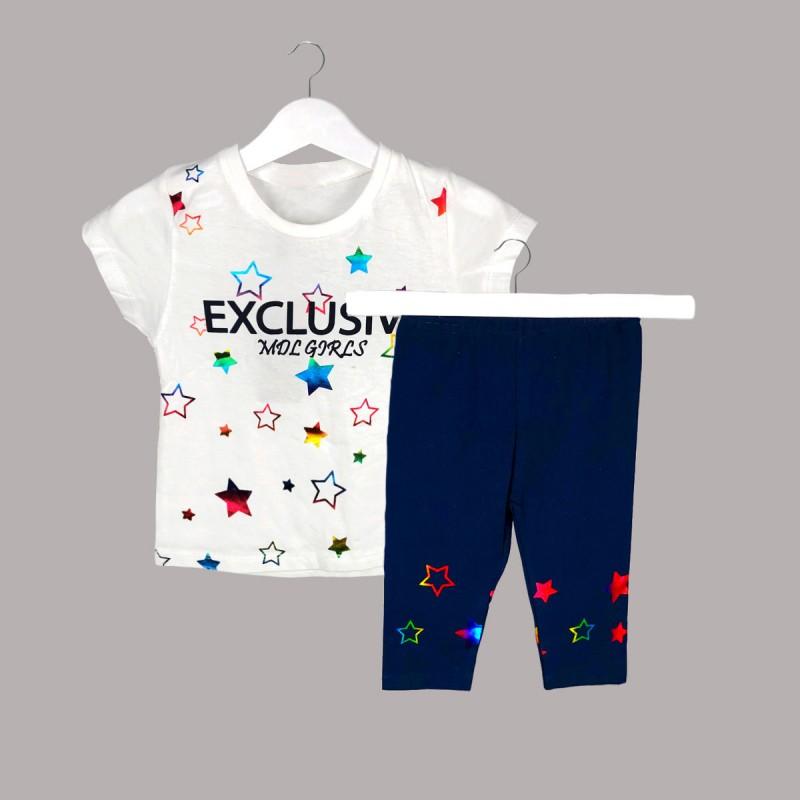 Детски комплект Keiki с тениска къс ръкав икъс клин за момичета. - 52230-014 - view 1