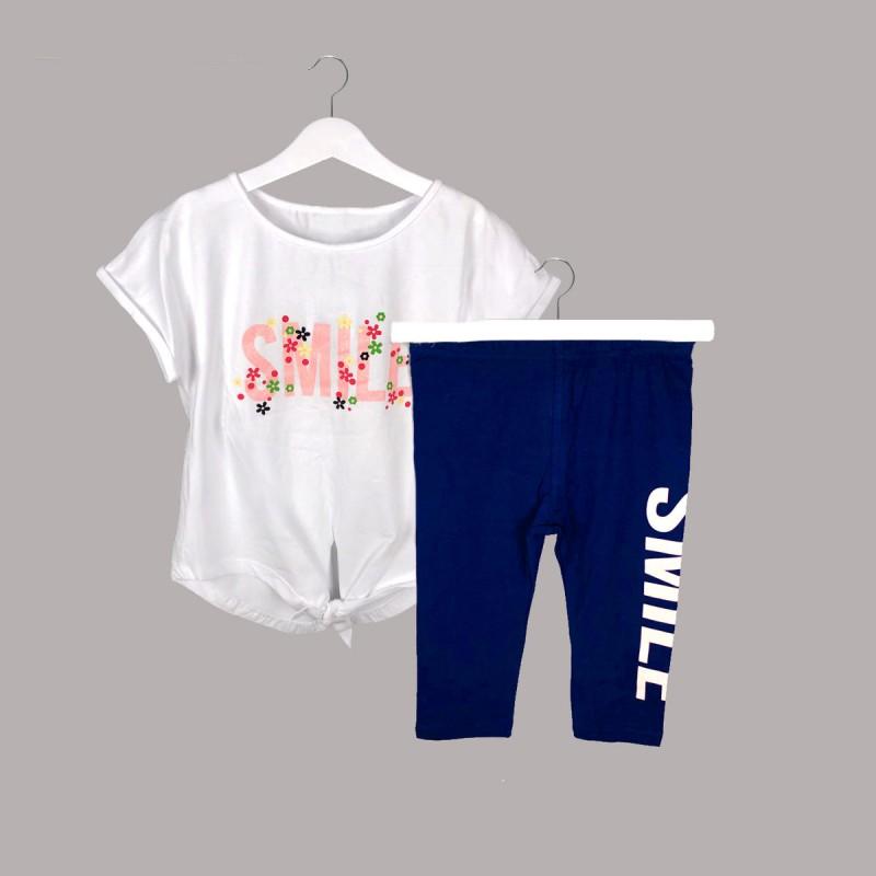 Детски комплект Keiki с тениска къс ръкав икъс клин за момичета. - 54741-001 - view 1