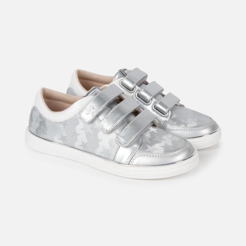 Спортни ежедневни обувки с велкро и звезди за момиче - 45135-050 - view 1