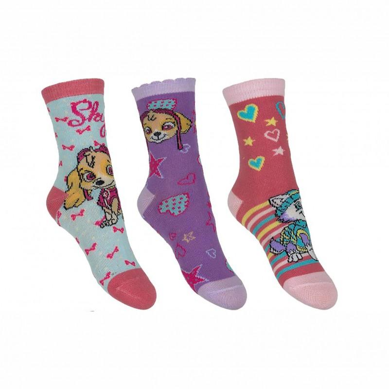 Комплект 3 чифта чорапиPaw Patrol (Пес Патрул) за момичета. - HQ0825-2-27 - view 1