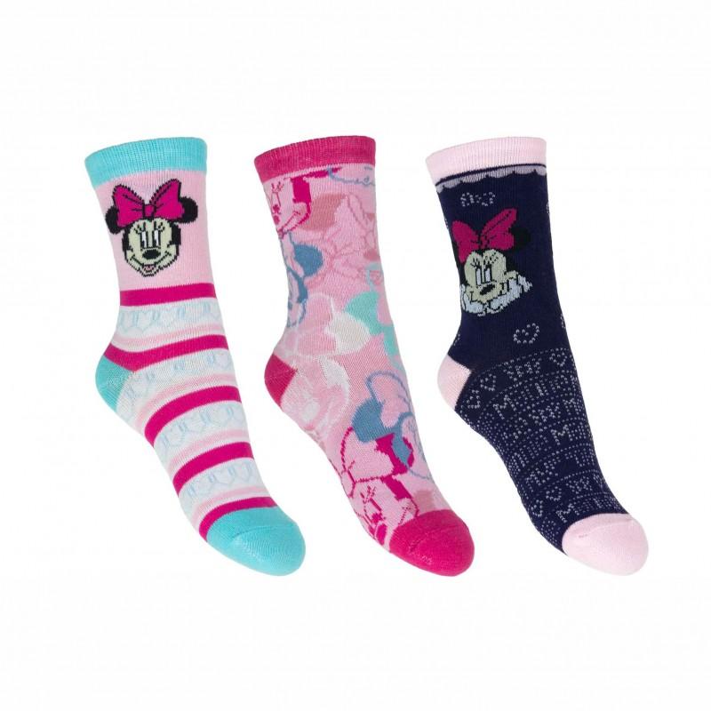 Комплект 3 чифта чорапиMinnie Mouse (Мини Маус) за момичета. - HQ0835-1-23 - view 1