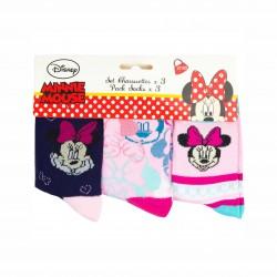Комплект 3 чифта чорапиMinnie Mouse (Мини Маус) за момичета. - HQ0835-1-23 - view 2