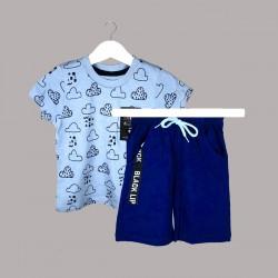 Детски комплект Keiki с тениска къс ръкав и къси панталони за момчета. - 54681-043 - view 1