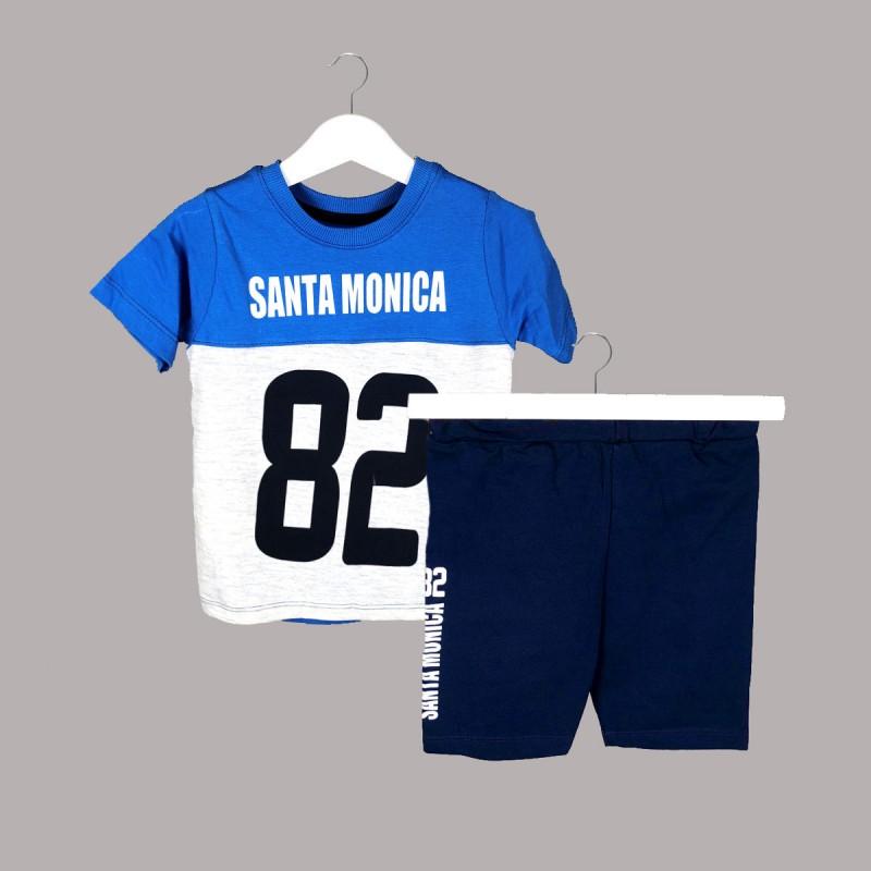 Детски комплект Keiki с тениска къс ръкав и къси панталони за момчета. - 53945-043 - view 1
