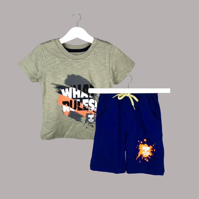 Детски комплект Keiki с тениска къс ръкав и къси панталони за момчета. - 54677-040 - view 1