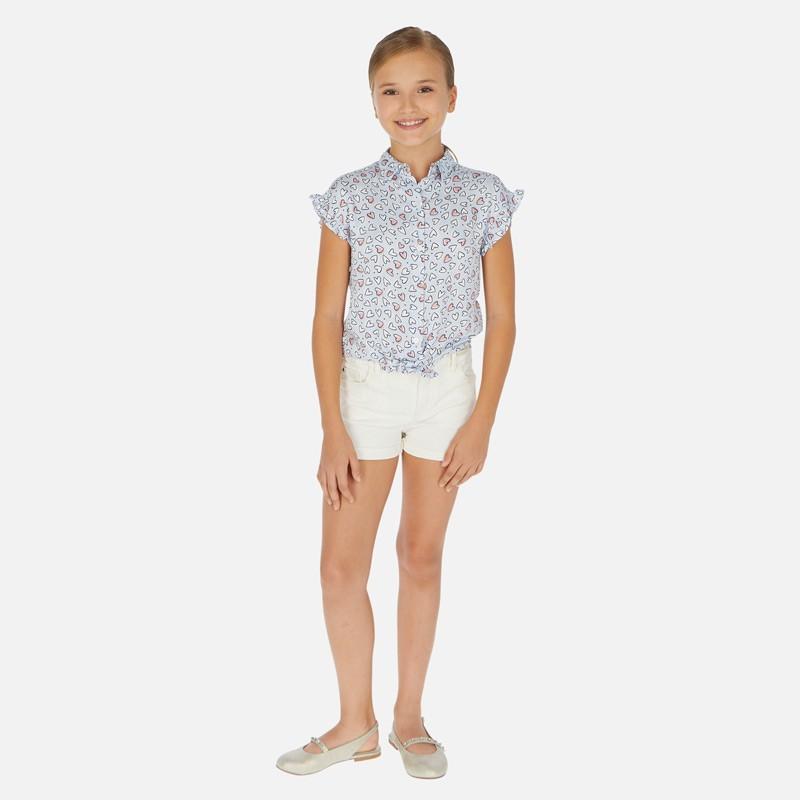 Къси панталони тип шорти с колан за момиче - 275-058 - view 1
