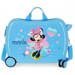 Твърд син куфар Minnie...