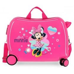 Твърд розов куфар Minnie...