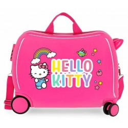 Твърд розов куфар Hello...