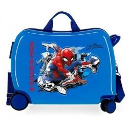 Твърд син куфар Spiderman...