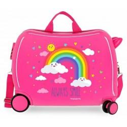 Твърд розов куфар Movom...