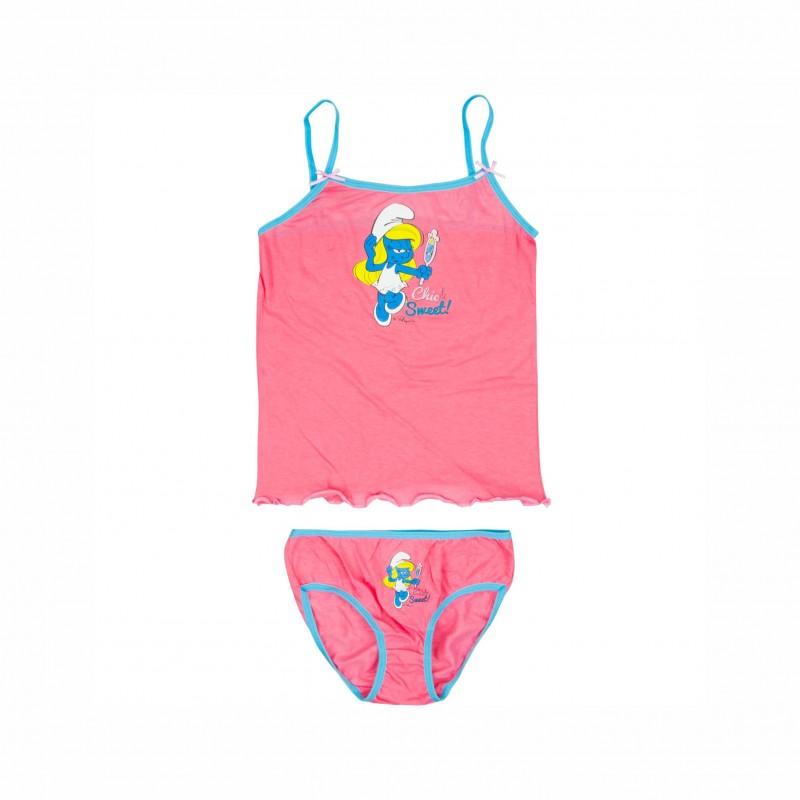 Детски комплект бельоThe Smurfs (Смърфовете) за момичета. - DQE3132 pink-98 - view 1