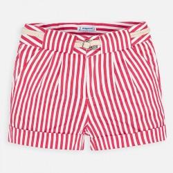 Къс панталон на райета с колан за момиче - 3283-024 - view 2