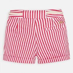Къс панталон на райета с колан за момиче - 3283-024 - view 3