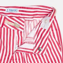 Къс панталон на райета с колан за момиче - 3283-024 - view 4