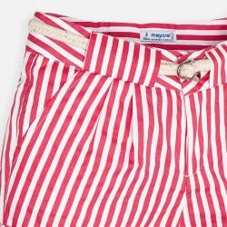 Къс панталон на райета с колан за момиче - 3283-024 - view 5