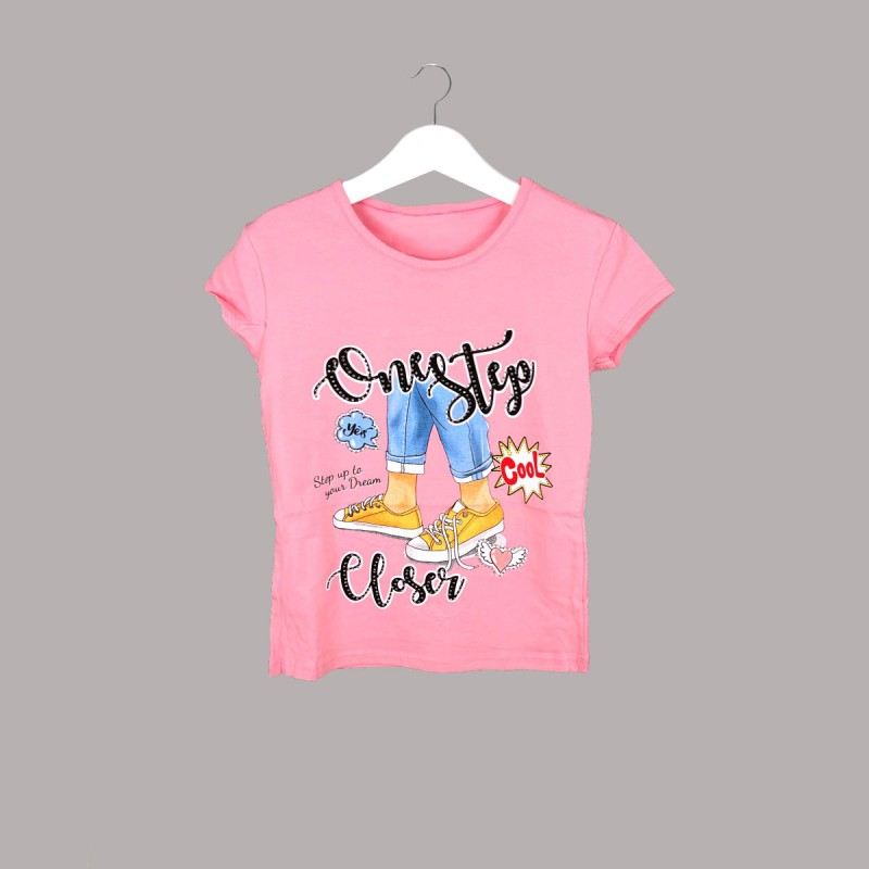 Детска тениска Keiki с къс ръкав за момичета. - 54025-048 - view 1