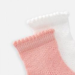 Комплект ажурни чорапи за момиче - 10785-054 - view 2
