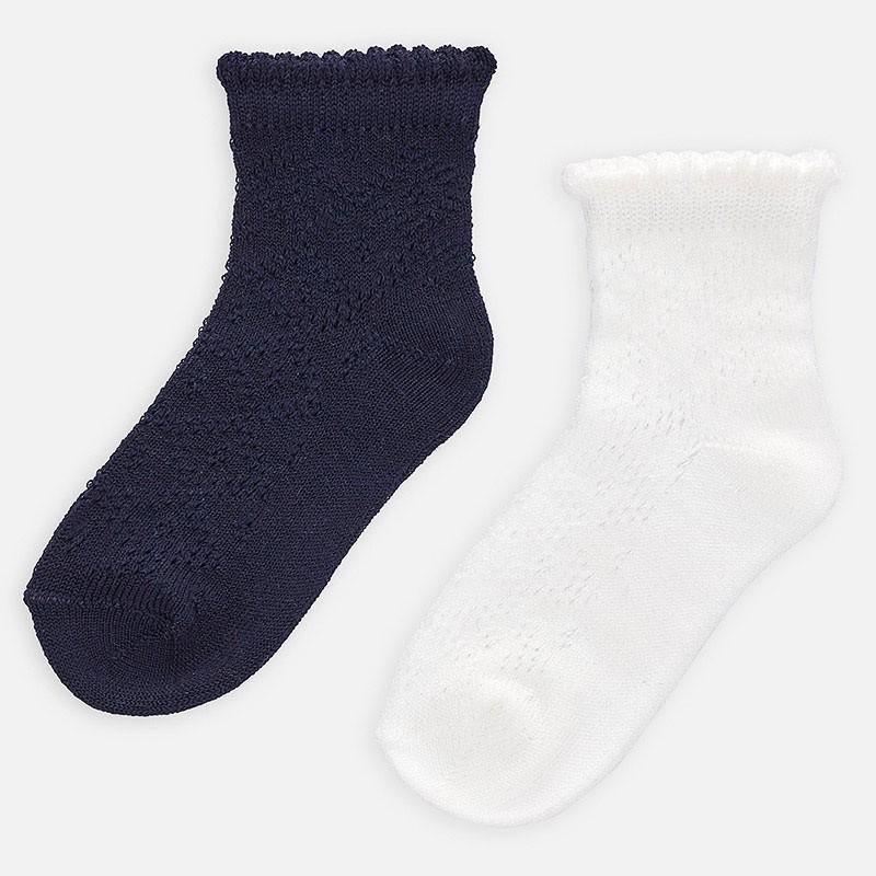 Комплект ажурни чорапи за момиче - 10785-056 - view 1