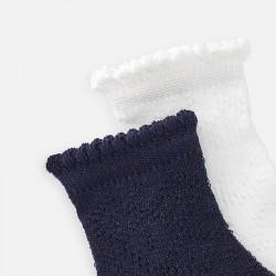 Комплект ажурни чорапи за момиче - 10785-056 - view 2
